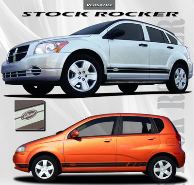 Stock Rocker Stripe Vinyl Graphic Kit