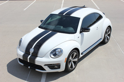 stripeman.com 2012-2019 Volkswagen Beetle Rally Stripe Kit Front View