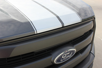 2015-2017 Ford F-150 F-Rally Graphic Kit by Stripeman.com Nose View