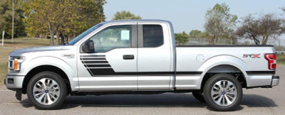 Stripeman.com Speedway Truck Graphic Kit for Ford F-150  Side View