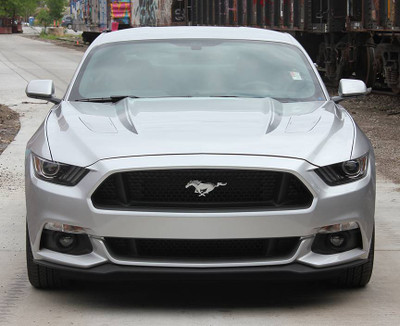 2015-2017 Ford Mustang Faded Hood Spears Graphic Kit Front View