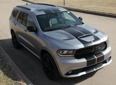 2014-2019 Dodge Durango Rally Stripe Graphic Kit Front View
