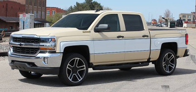 2014-2019 Chevy Silverado Retro Cheyenne Graphic Kit Angled Front Side View