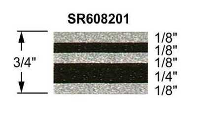 "3/4"" Truck Stripes Paint Break Silver Metallic and Black Metallic 