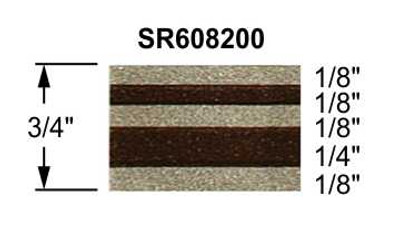 "stripeman.com 3/4"" Truck Stripes Paint Break Arizona Beige Metallic & Brown Metallic Configuration"