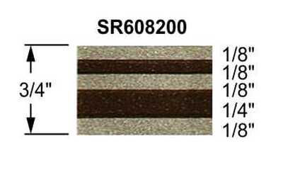 "stripeman.com 3/4"" Truck Stripes Paint Break Arizona Beige Metallic & Brown Metallic Configuration"