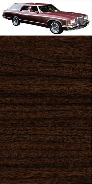 GM Dark Walnut Digital Reproduction Wood Grain Vinyl