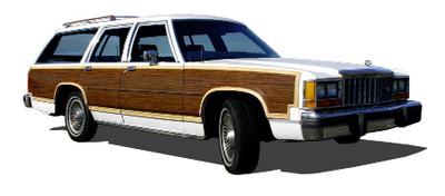 Ford Country Squire Woodgrain Kit.  Ford LTD Wagon Woodgrain