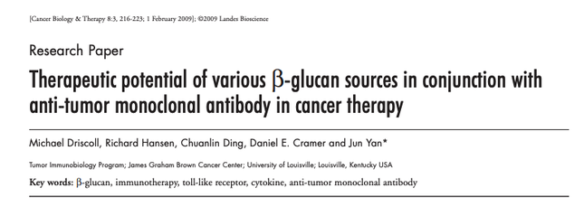 Beta-glucans in cancer therapy