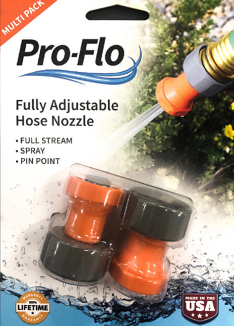 Package of 2 adjustable hose nozzles
