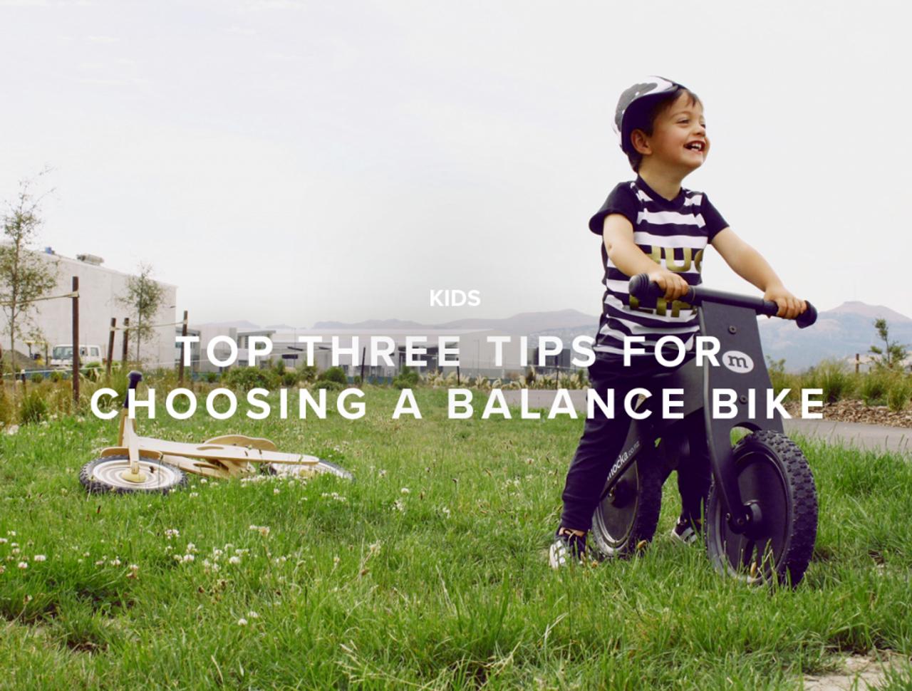 Top Three Tips For Choosing a Balance Bike