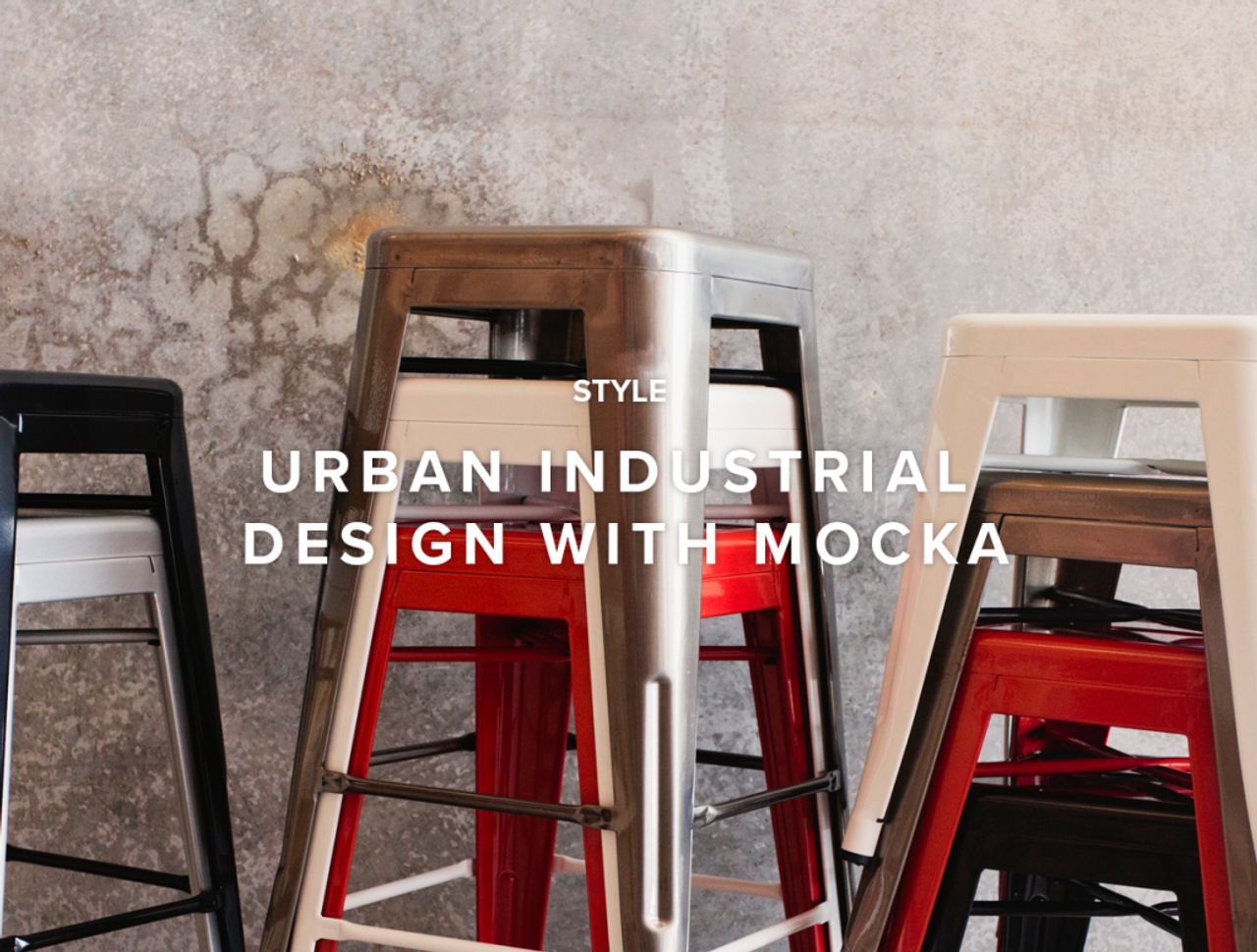Urban Industrial Design With Mocka
