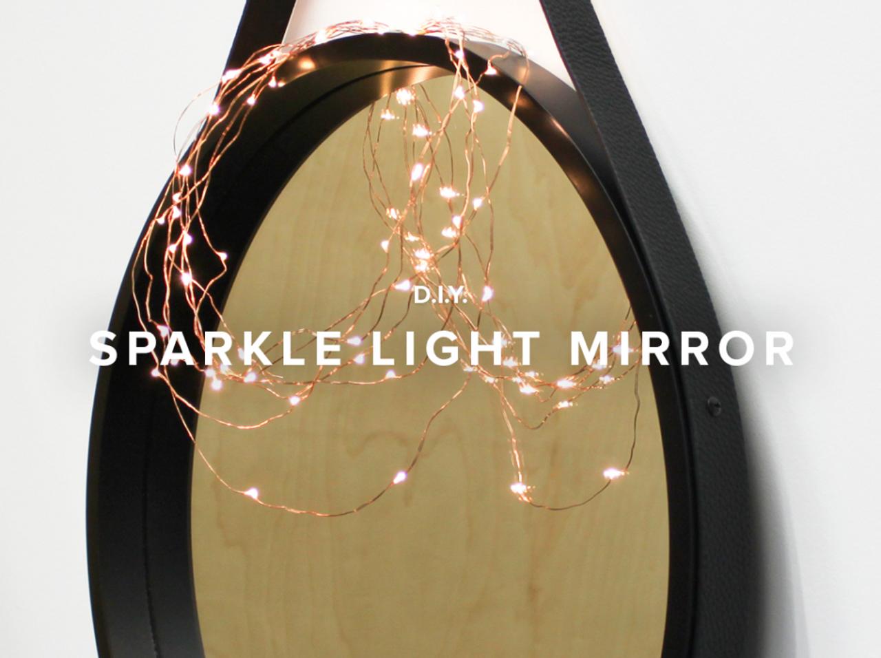 Mocka DIY:  Sparkle Light Mirror