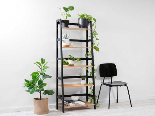 Porto Five Shelves - Black
