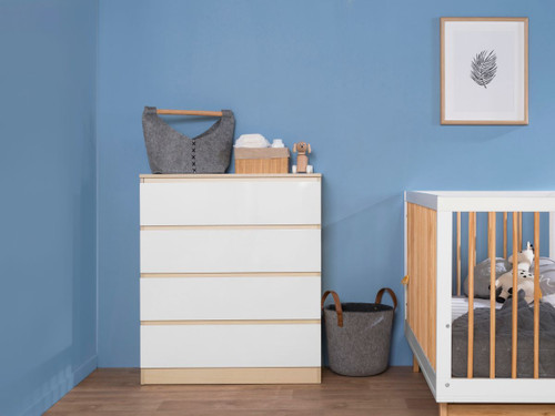 Jolt Four Drawer - Natural / White