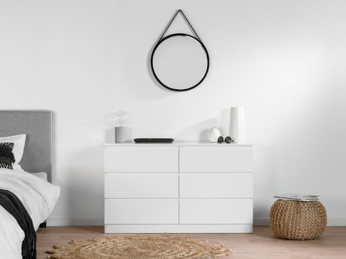 Jolt Six Drawer - Wide - White