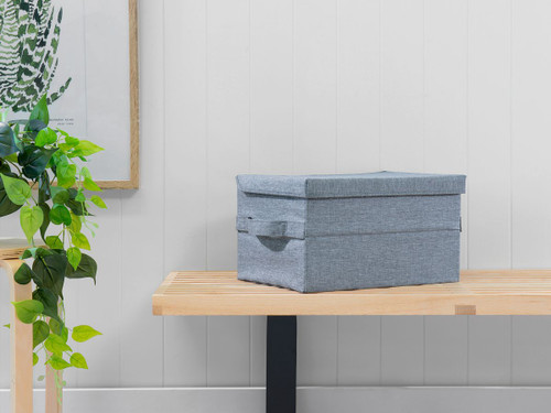 Clyde Foldable Storage Box - Grey