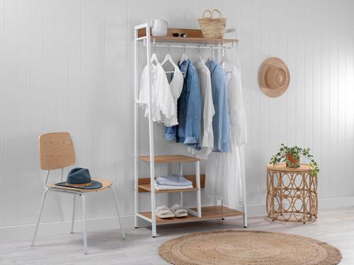 Porto Storage With Shelf - White