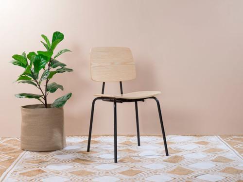 Peta Chair - Black/Natural