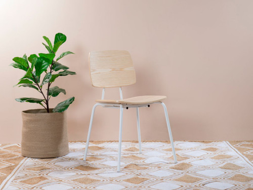 Peta Chair - White/Natural
