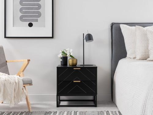 Inca Bedside Table - Black