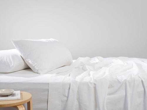 Mocka White Stone Washed Sheet Set - King