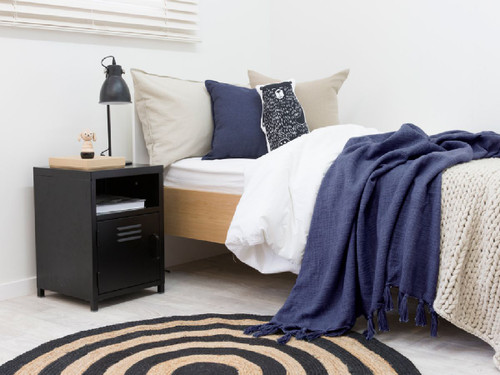 Locka Bedside Table - Black