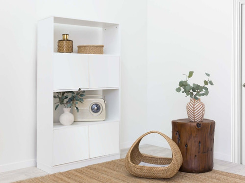 Mocka Essentials Large Bookcase - White