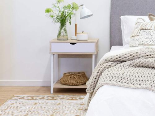 Vigo Bedside Table - White