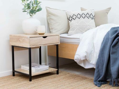 Vigo Bedside Table - Black
