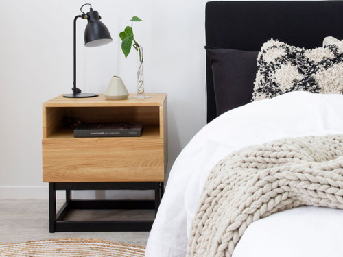 Urban Bedside Table - Black