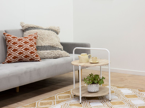 Stella Side Table - Natural / White
