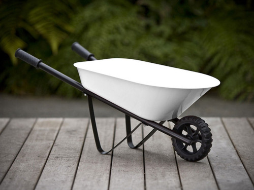 Kids Steel Wheelbarrow - White