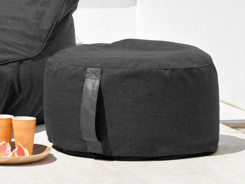 Lizzie Ottoman Bean Bag Cover - Black