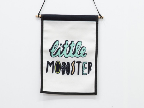 Small Wall Art Hanger - Little Monster
