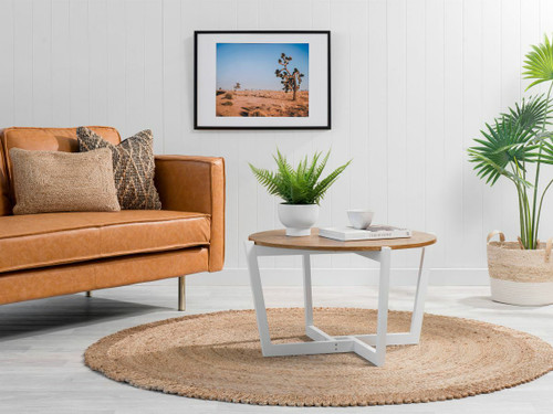 Ellwood Coffee Table - Natural/White