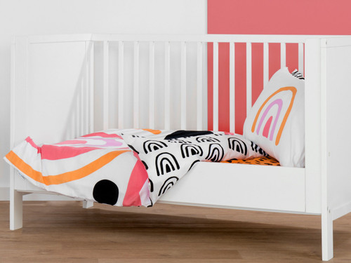 Rainbow Cot Quilt Cover Set