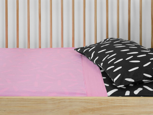 Pink and Sprinkles Cot Sheet Set