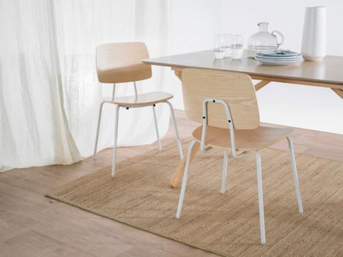 Peta Chair - White/Natural - Set of 2