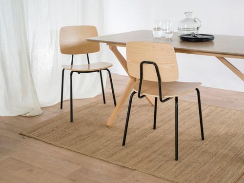 Peta Chair - Black/Natural - Set of 2