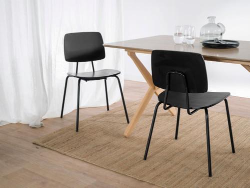Peta Chair - Black - Set of 2