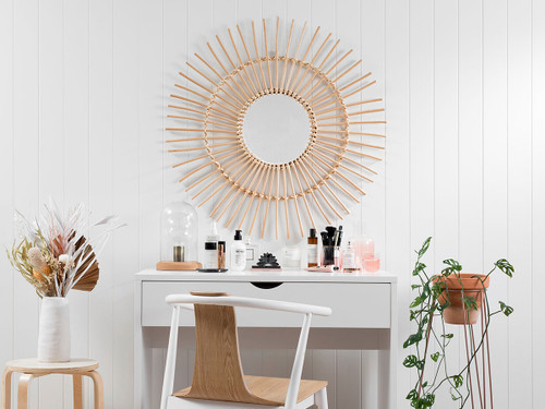 Wicker Mirror - Large - Natural