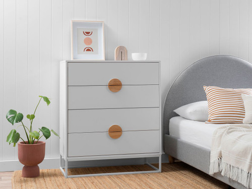 Eclipse Four Drawer - White