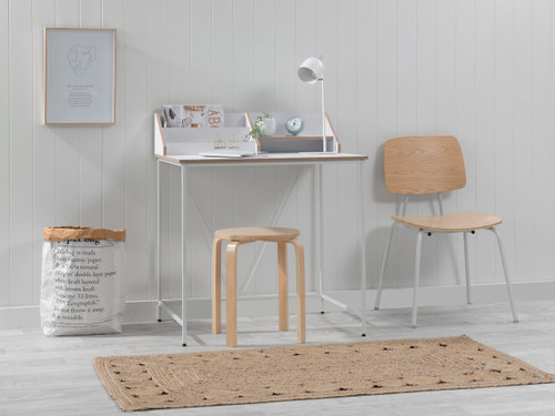 Toby Desk - White/Natural