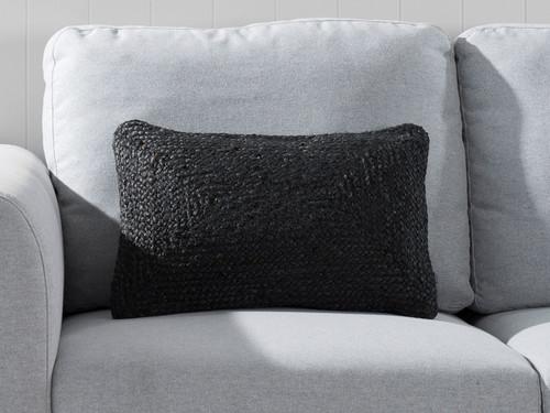 Buddina Cushion Cover - Oblong - Black