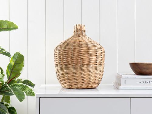 Nyria Rattan Vase - Medium