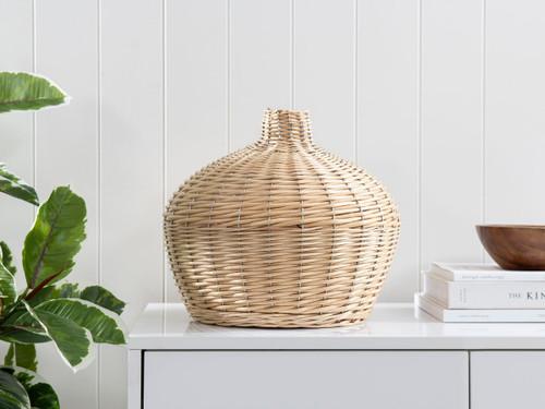 Nyria Rattan Vase - Small