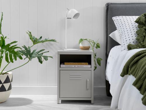 Locka Bedside Table - Light Grey
