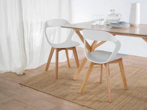 Jasper Dining Chair - White/Light