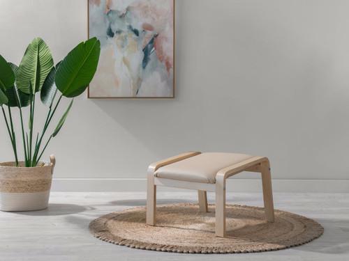 Asta Luxe Footstool - Beige